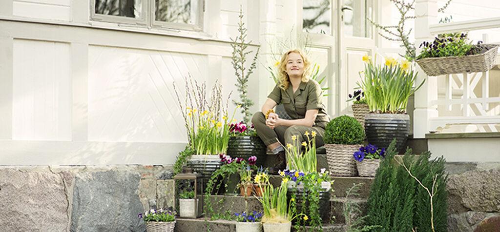 Koristele kevään tulo kasveilla ja kortisteilla