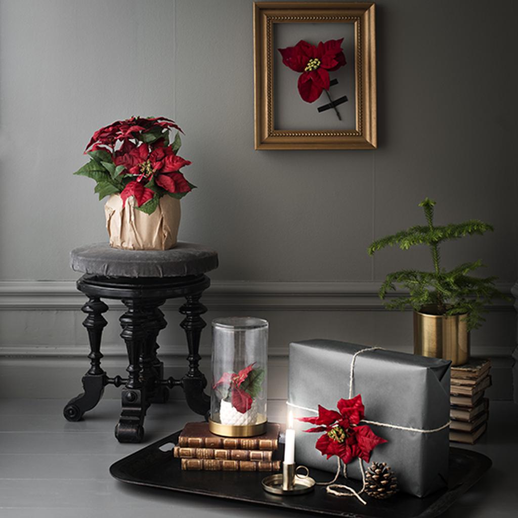 Tee kukista joulukoristeita