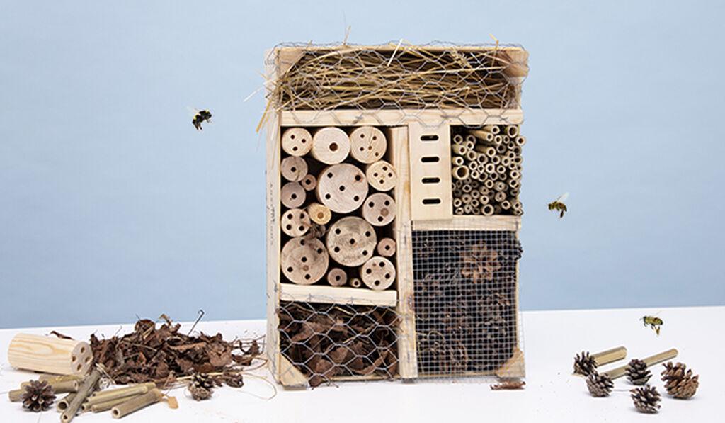 Rakenna oma hyönteishotelli – seitsemän helppoa vaihetta