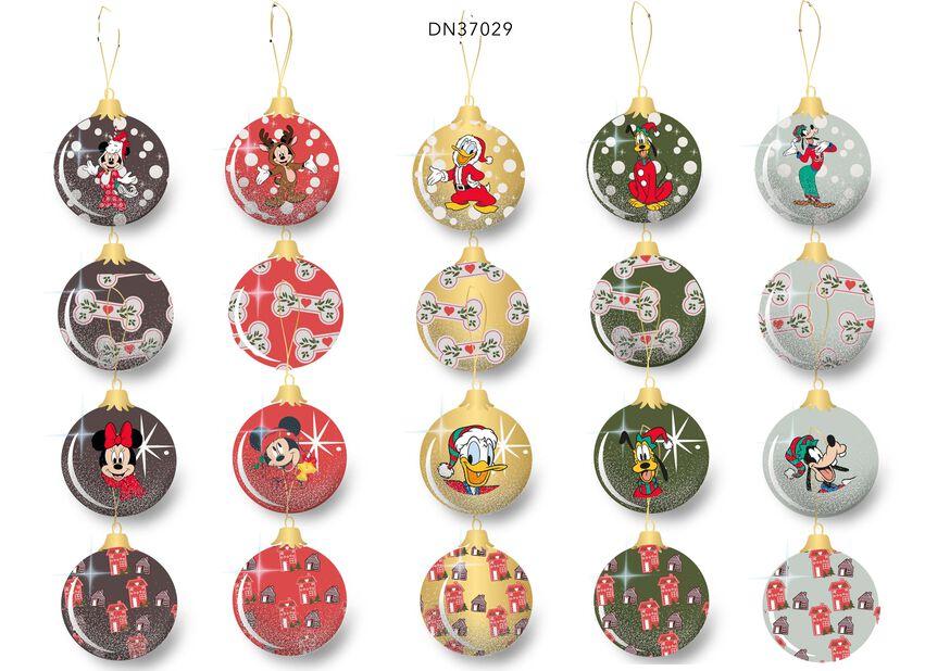 Joulupallo Disney, Korkeus 7.5 cm, Monivärinen