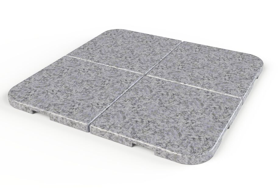 Aurinkovarjon jalka graniittia, 20 kg, Harmaa