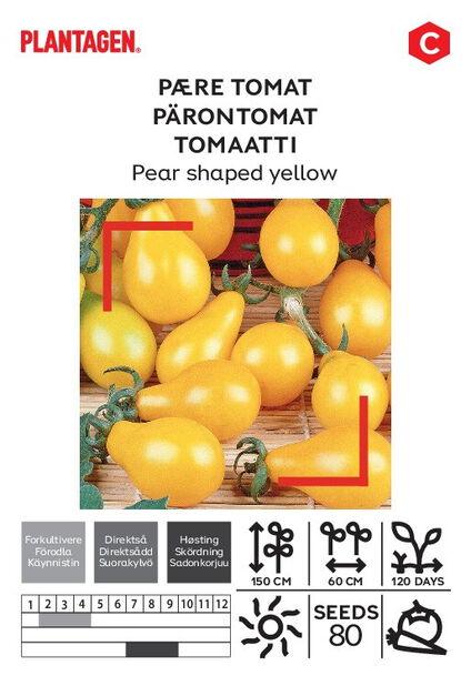 Tomaatti 'Pear shaped yellow'