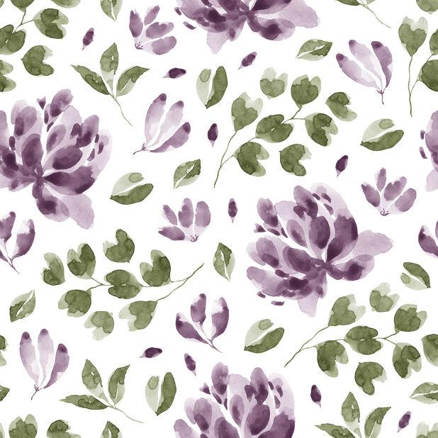 Lautasliina kukat, Leveys 33 cm, Violetti