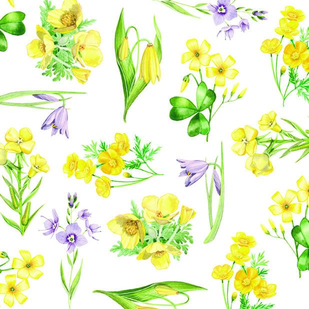 Pääsiäisservetti kukat, Leveys 33 cm, Keltainen