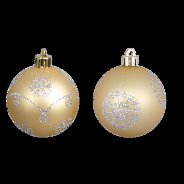 Joulupallo 4 kpl, Ø6 cm, Kulta