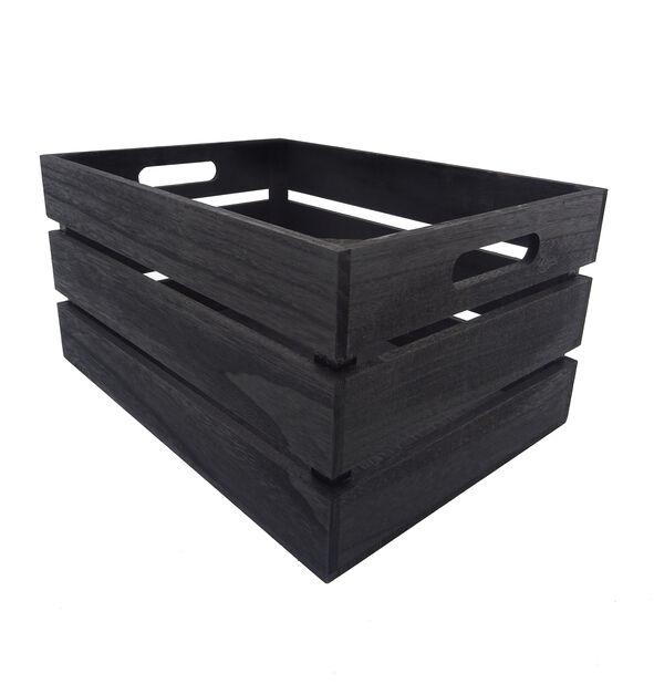 Puulaatikko, Pituus 46 cm, Musta