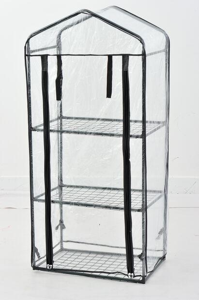 Pienoiskasvihuone, Korkeus 125 cm, Läpinäkyvä