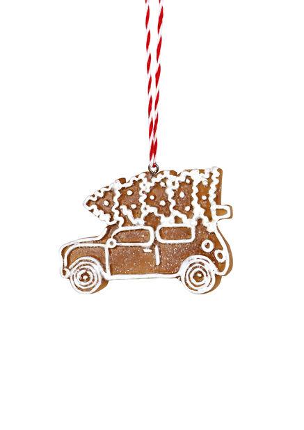 Joulukoriste piparkakkuauto, Korkeus 6 cm, Keltainen