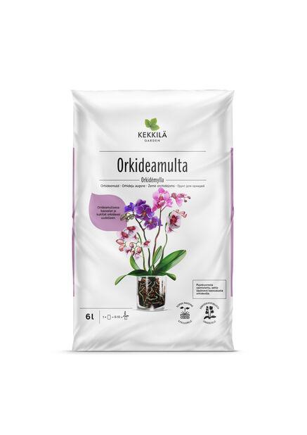 Orkideamulta, 6 L, Ruskea
