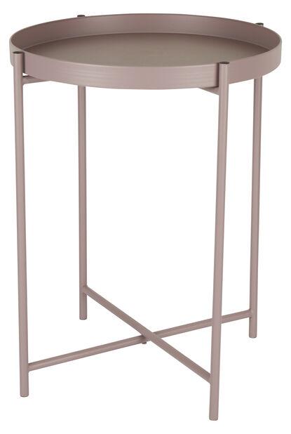 Sivupöytä Loke, Ø38 cm, Pinkki