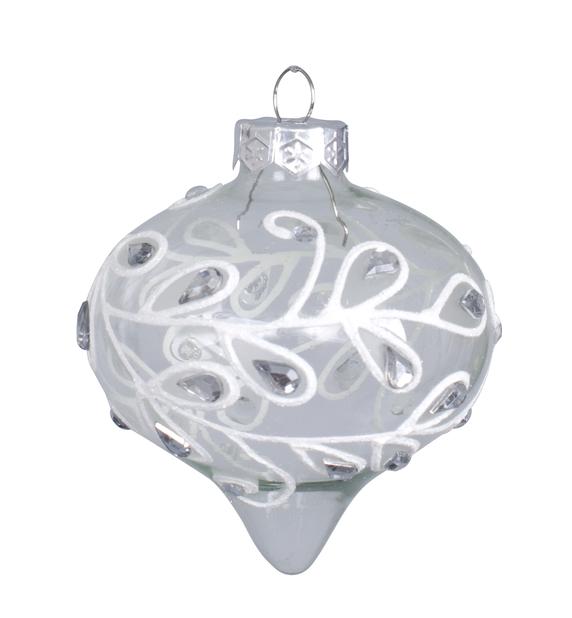 Joulupallo Crystal, Ø8 cm, Läpinäkyvä