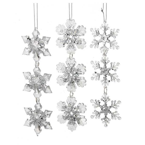 Joulukoriste lumihiutaleet, Korkeus 20.5 cm, Luonnonvalkoinen