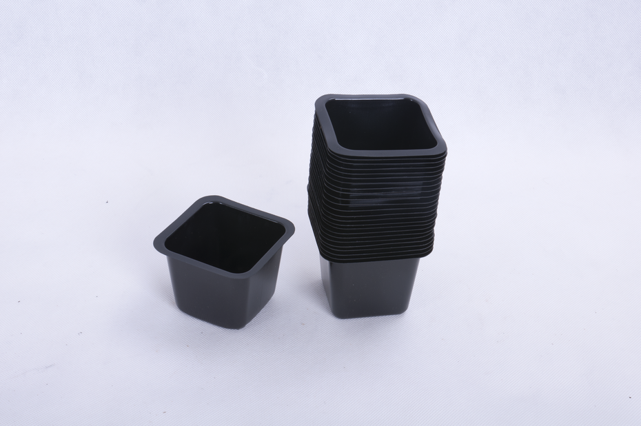 Kuituruukku neliö 25 kpl, Leveys 9.5 cm, Musta