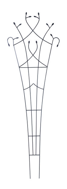 Viuhkamainen säleikkö, Korkeus 2.03 m, Musta