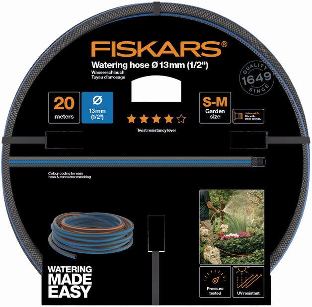 """Kasteluletku 13mm (1/2"""") 20m Q4 Fiskars, 20 ml, Musta"""