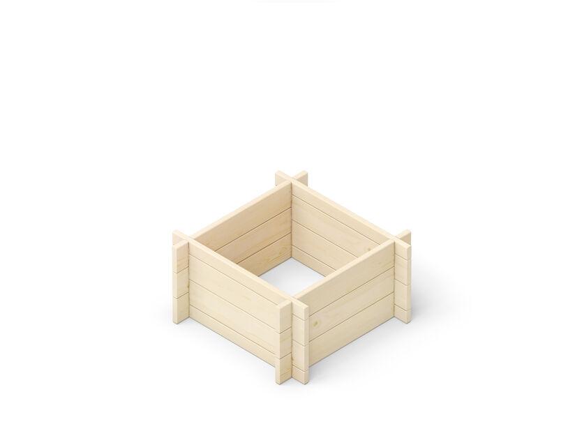 Viljelylaatikko, Pituus 59 cm, Puunvärinen