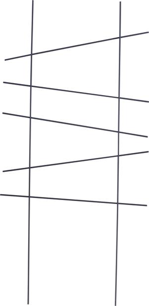 Säleikkö Ortus, Korkeus 58 cm, Musta