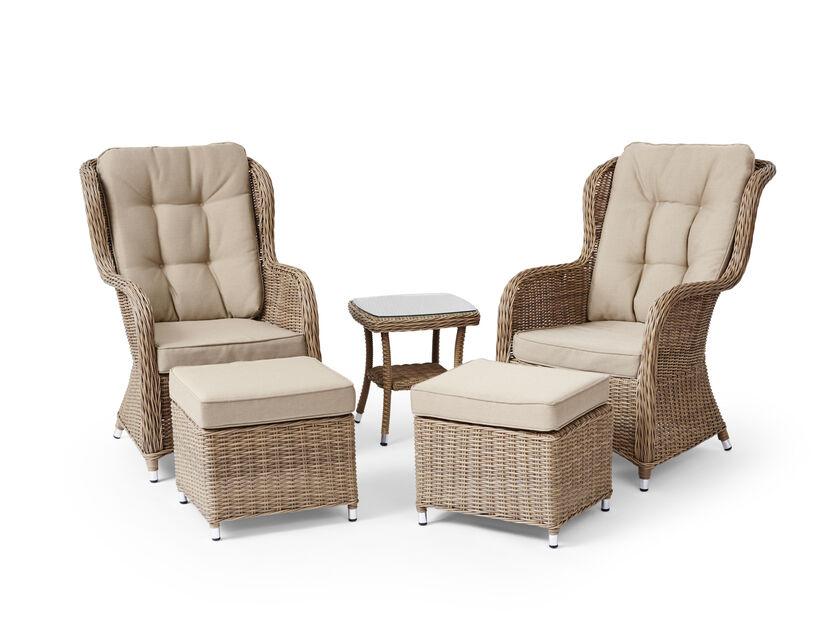 Lounge-setti Lotus Duo 1+2+2