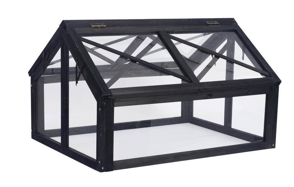 Kasvihuone pieneen istutuslaatikkoon, Pituus 80 cm, Musta