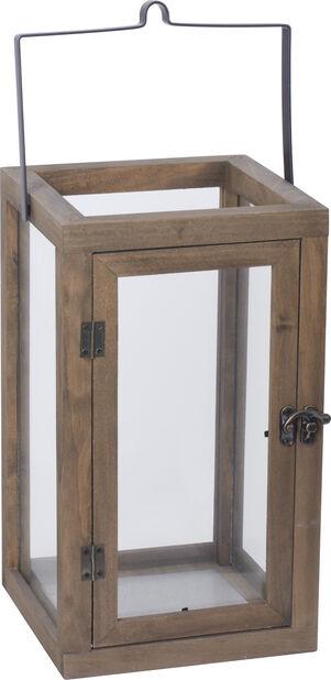 Lyhty Lea 25x25x41cm puinen ruskea