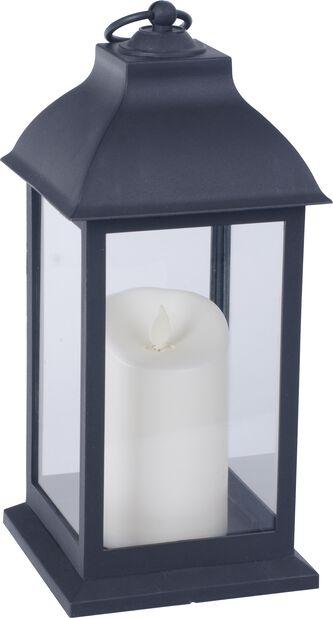 Lyhty Fabian jossa valaistus, Korkeus 30.5 cm, Musta