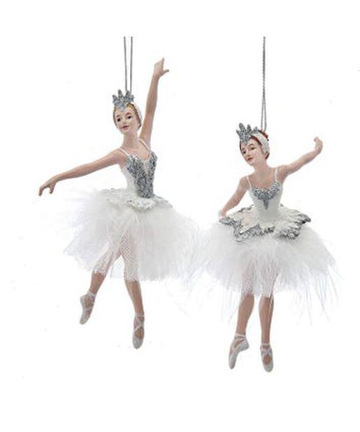 Joulukoriste ballerinat, Korkeus 14 cm, Luonnonvalkoinen