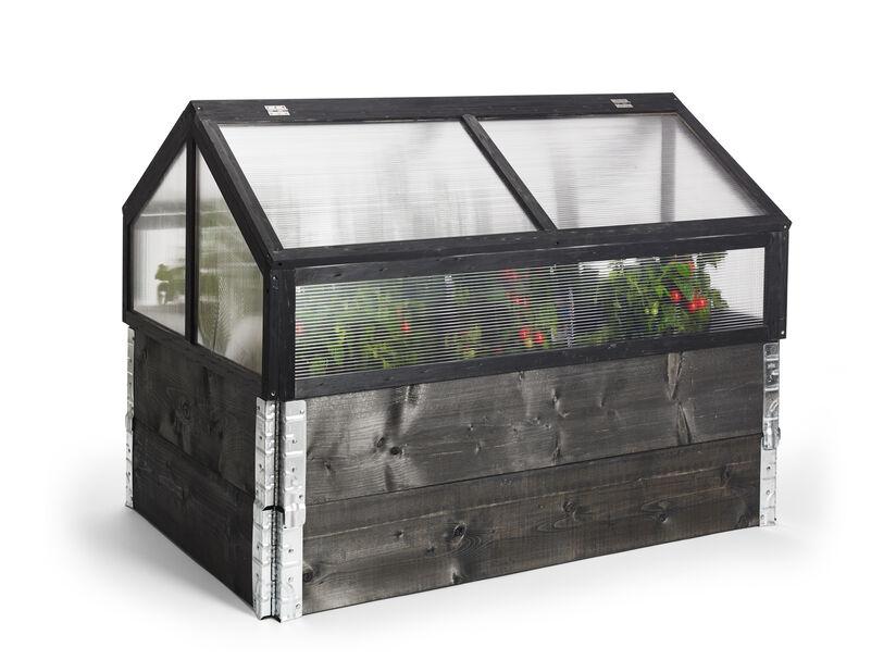 Kasvihuone istutuslaatikolle, Pituus 120 cm, Musta