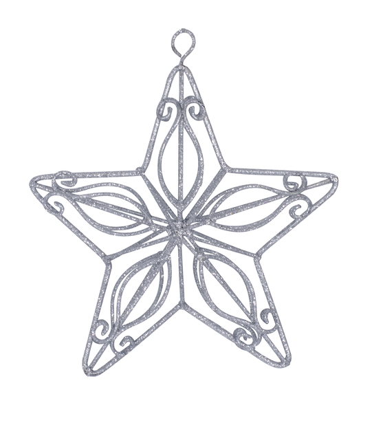 Kuusenkoriste Silver Star 14 cm