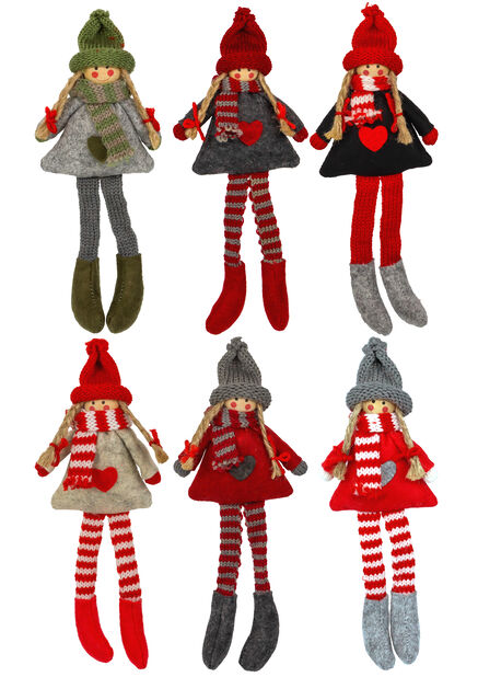 Joulukoriste nukke, Korkeus 23 cm, Useita värejä