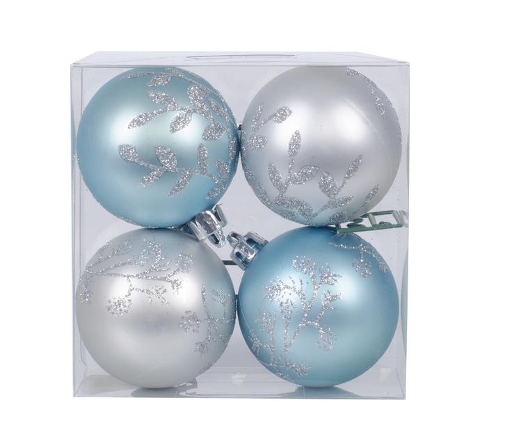 Joulupallo 4 kpl, Ø6 cm, Useita värejä