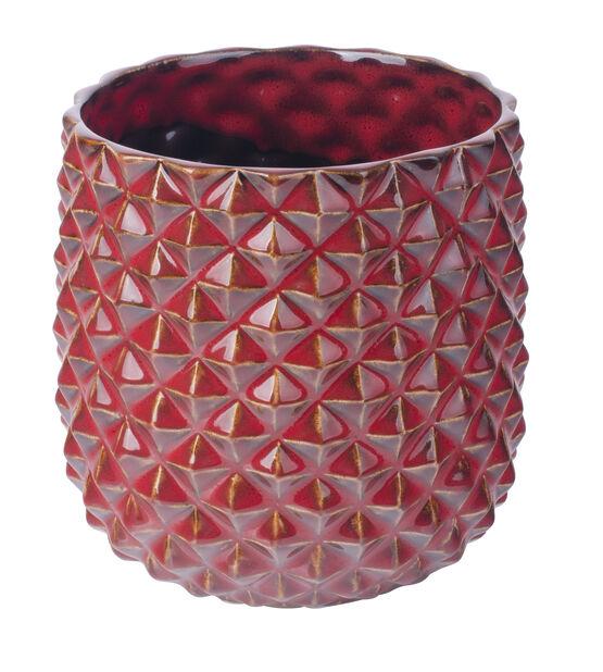 Jonna-ruukku, halk. viininpunainen, Ø14 cm, Punainen
