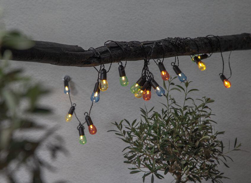 Valosarja ulos, Pituus 450 cm, Monivärinen