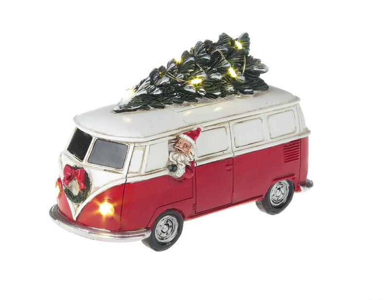 Joulukoriste joulukuusiauto, Korkeus 12 cm, Monivärinen