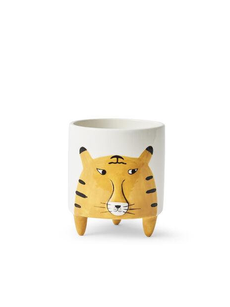 Ruukku tiikeri, Ø11 cm, Keltainen