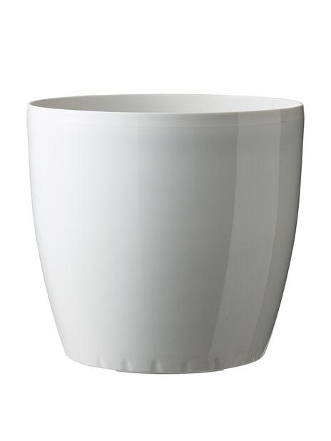 Leva selfwatering pot d 22 x h 20 cm, white