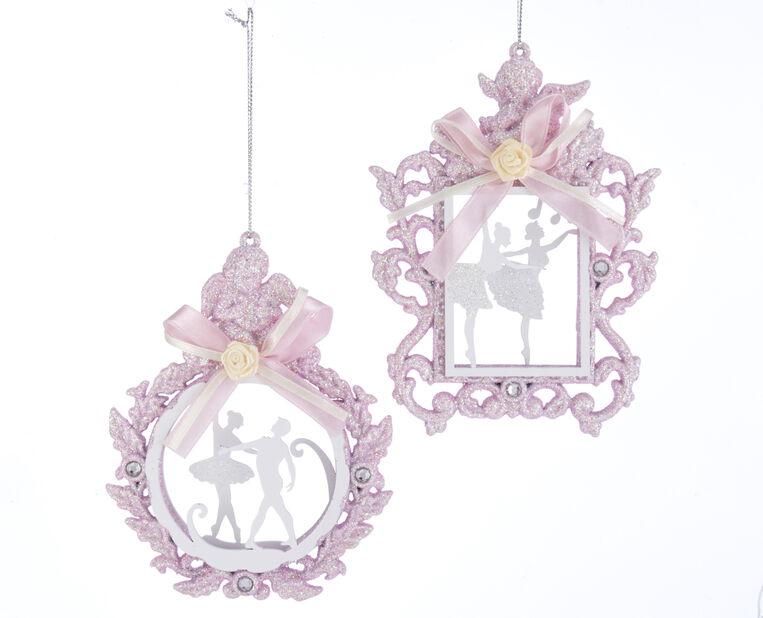 Joulukoriste joulubaletti, Korkeus 13.5 cm, Pinkki