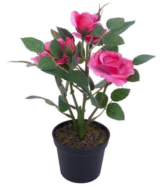 Miniruusu tekokasvi, Korkeus 20 cm, Pinkki