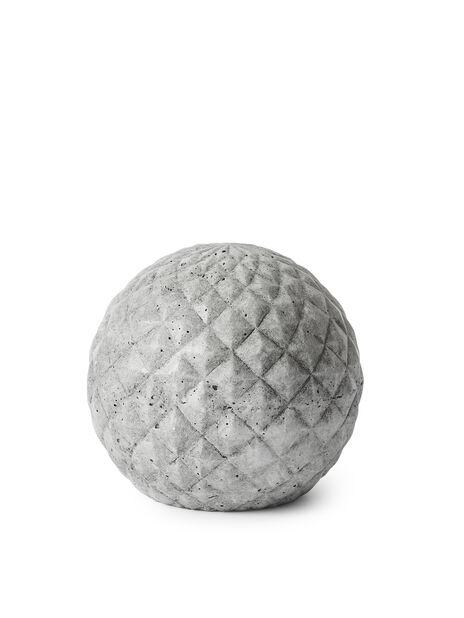 Koristepallo, Korkeus 23 cm, Harmaa