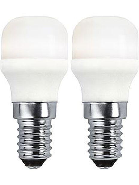 Led-lamppu E14-kanta, 2 kpl, Valkoinen