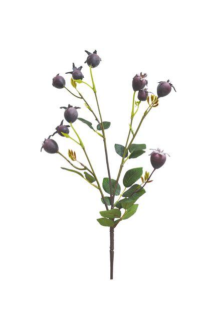 Ruusunmarjaoksa tekokasvi, Pituus 74 cm, Violetti