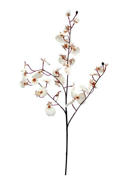 Orkideaoksa tekokasvi, Pituus 81 cm, Pinkki