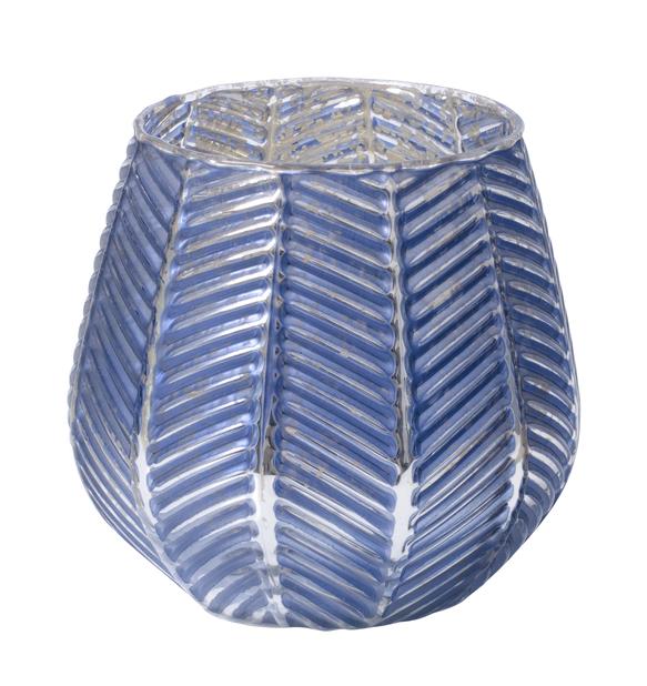 Lämpökynttiläpidike Bianca, Korkeus 10 cm, Sininen