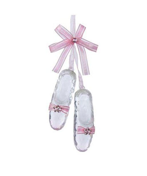 Joulukoriste balettitossut, Korkeus 15.5 cm, Pinkki