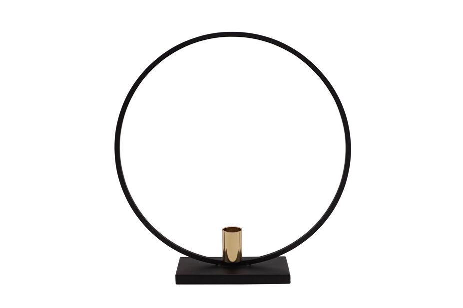 Kynttilänjalka, Korkeus 30 cm, Musta