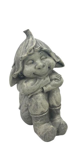 Hugo-koristetonttu, Korkeus 24 cm, Harmaa