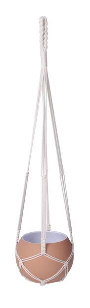 Makramee-amppeli Eline, Pituus 90 cm, Valkoinen