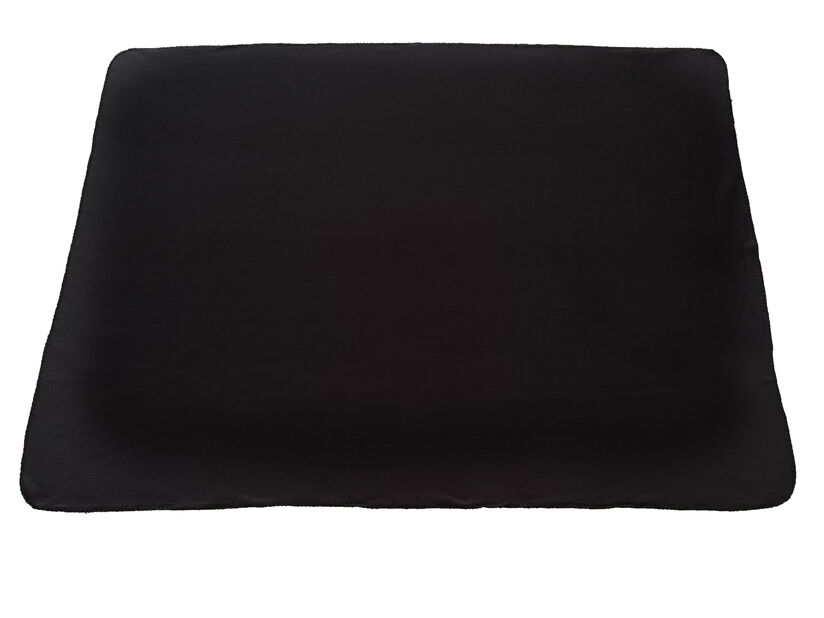 Fleece-huopa, Pituus 175 cm, Musta