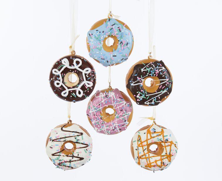 Joulukoriste donitsit, Korkeus 6 cm, Monivärinen