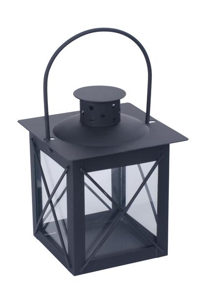 Lyhty Pia, Korkeus 13 cm, Musta