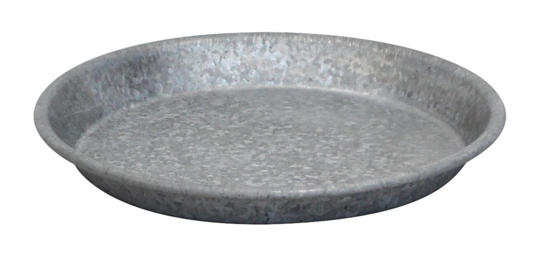 Aluslautanen sinkkiä, Ø18 cm, Harmaa